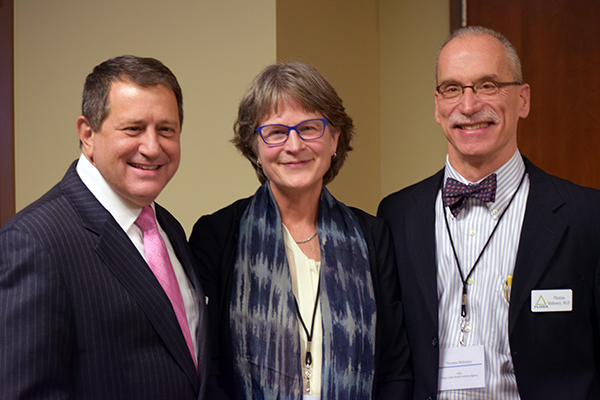 State Assembly Majority Leader Joseph Morelle, Trilby de Jung, Dr. Thomas Mahoney